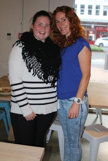Yogini Jess + Yoga teacher Lizzie - gorgeous gals!
