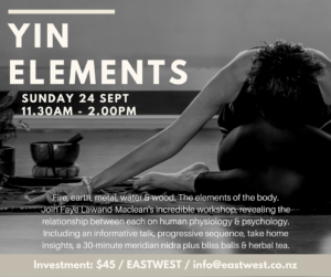 Yin Elements @ Eastwest Yoga   Auckland   Auckland   New Zealand
