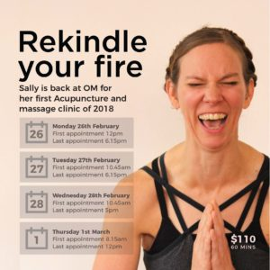 Rekindle your Fire with Sally Flewelling @ Om Yoga Studio | Auckland | Auckland | New Zealand